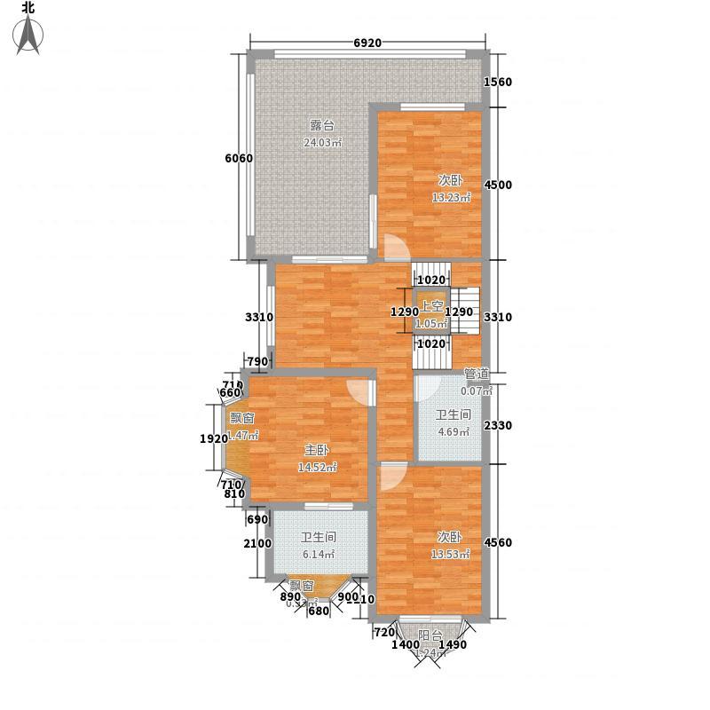 金绿洲星光大道113.00㎡户型3室2厅2卫1厨