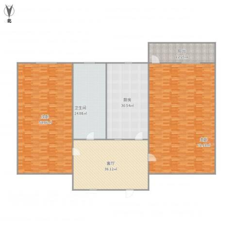 朝晖四区2室1厅1卫1厨303.00㎡户型图