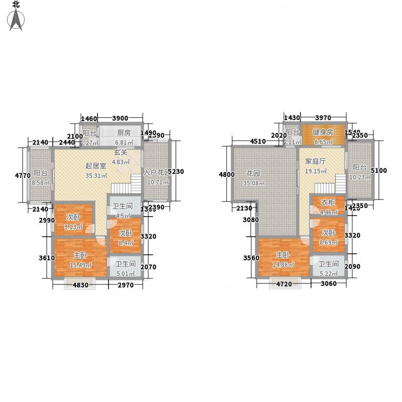 天然居28.23㎡花园B组团2#楼跃式户型7室3厅3卫1厨