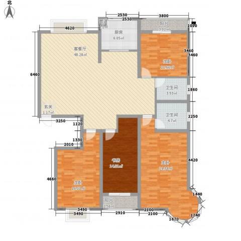 碧海绿洲4室1厅2卫1厨134.64㎡户型图