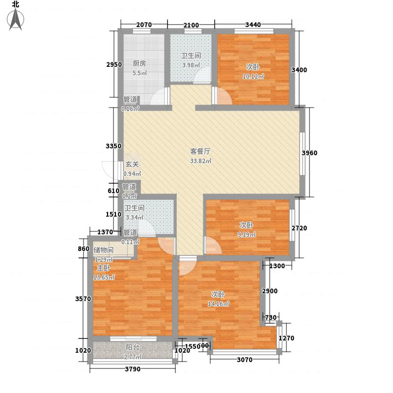 金碧伦户型4室2厅2卫1厨