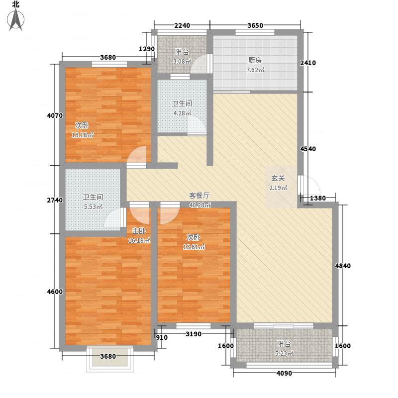 安居苑156.00㎡户型3室