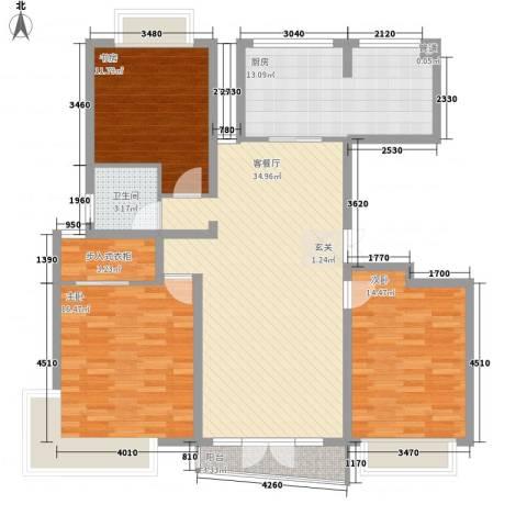 昌鑫协和园3室1厅1卫1厨144.00㎡户型图