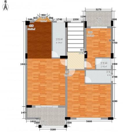 樱花别墅3室0厅3卫0厨167.00㎡户型图