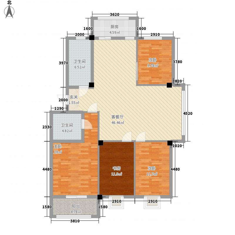 佳隆山庄152.40㎡户型4室2厅2卫1厨