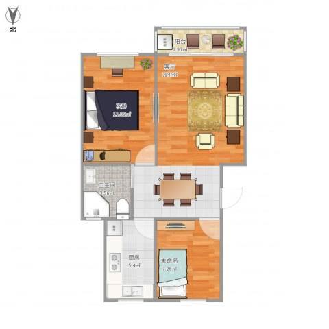 丰庄十三街坊1室1厅1卫1厨68.00㎡户型图