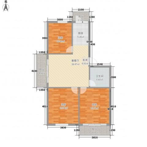 硅谷大厦3室1厅1卫0厨119.00㎡户型图