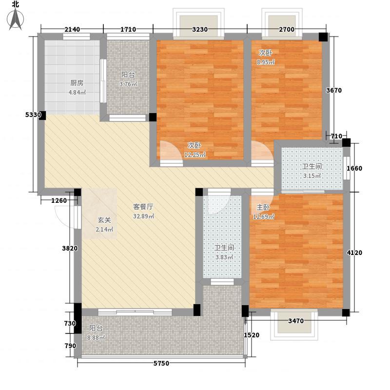 艺盛花园11.00㎡户型3室