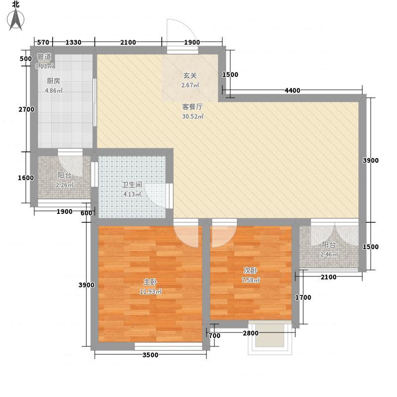 银树湾户型2室
