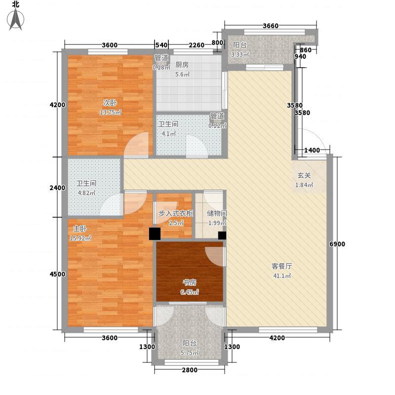 保利花园三期双河城128.00㎡保利花园三期双河城户型图三室二厅二卫128平方米3室2厅2卫户型3室2厅2卫