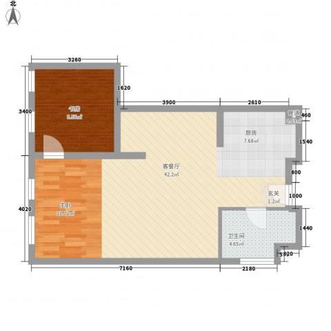 想想大厦1室1厅1卫0厨89.00㎡户型图
