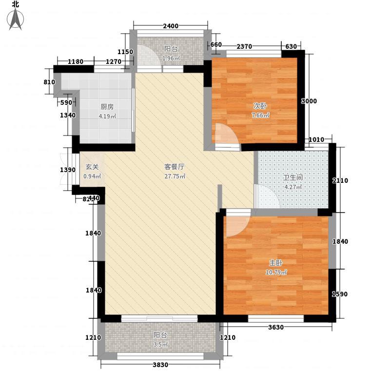 富锦园户型2室1厅1卫1厨