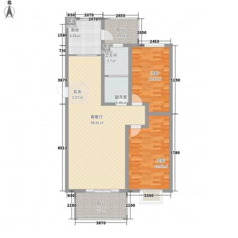 盛世闲庭别墅2室2厅1卫1厨130.00㎡户型图