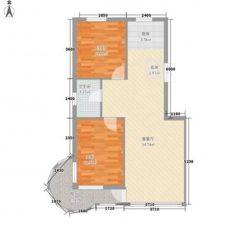 东庭印象2室1厅1卫0厨94.00㎡户型图