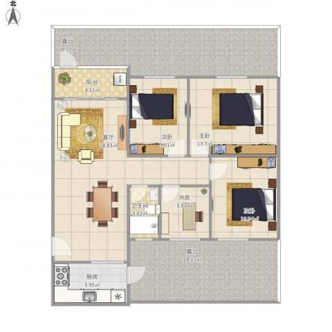 文华花园4室1厅1卫1厨161.00㎡户型图