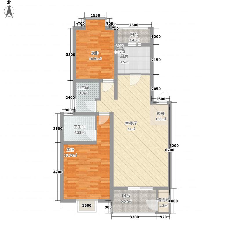 精铸55.00㎡小区户型2室