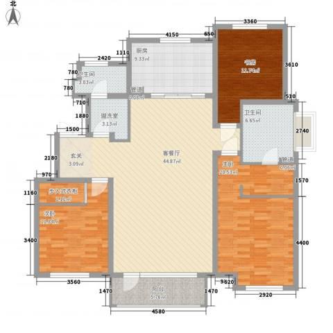 中康阁3室2厅2卫1厨169.00㎡户型图