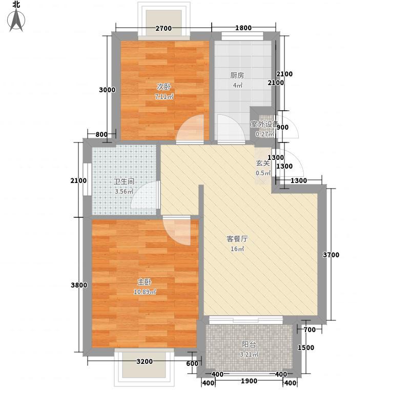 滨海假日C区5.26㎡滨海假日c区C户型2室1厅2卫1厨