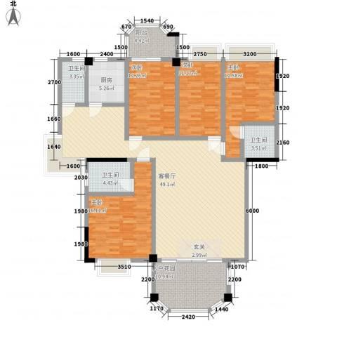 金色家园4室1厅3卫1厨191.00㎡户型图