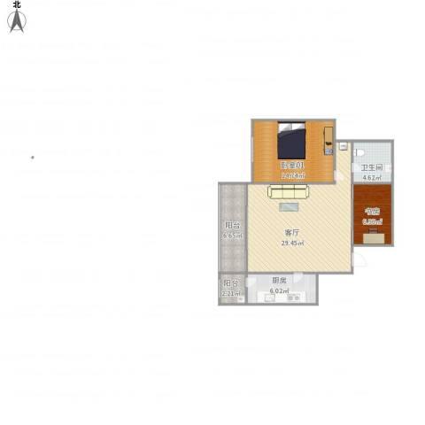 BJWZ15902919紫薇天悦5号楼0单元第1层1071室1厅1卫1厨95.00㎡户型图