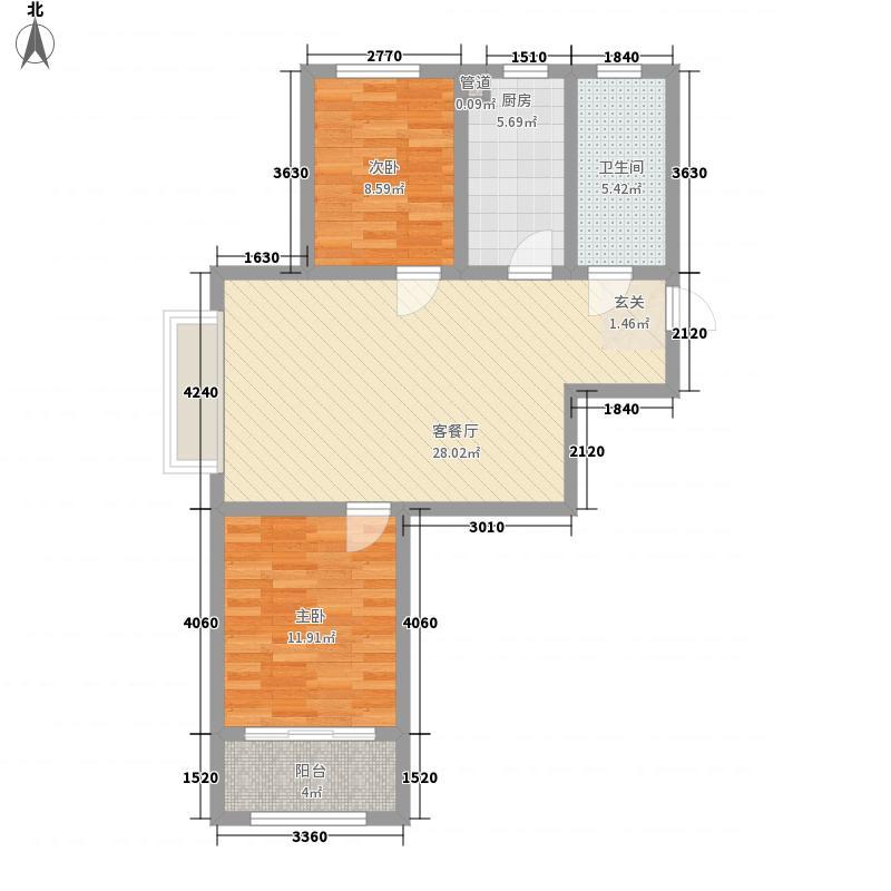 衡山舒苑一期1#、2#、3#标准层D户型