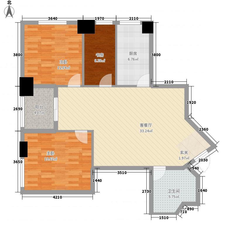 汇金国际公寓116.20㎡G户型3室2厅1卫