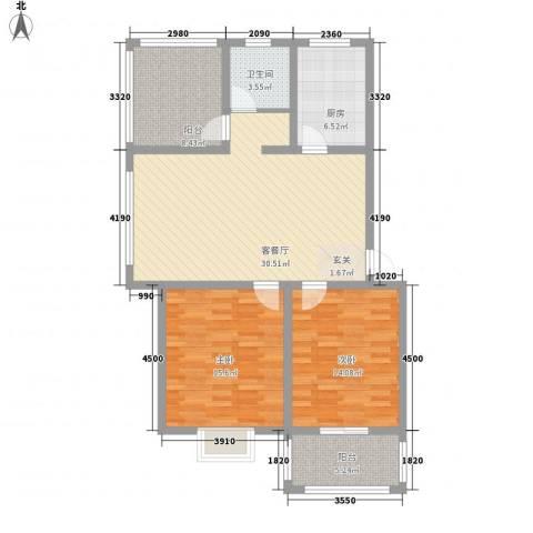 文萃苑别墅2室1厅1卫1厨120.00㎡户型图