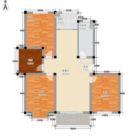 茉莉花园4室1厅1卫1厨120.36㎡户型图