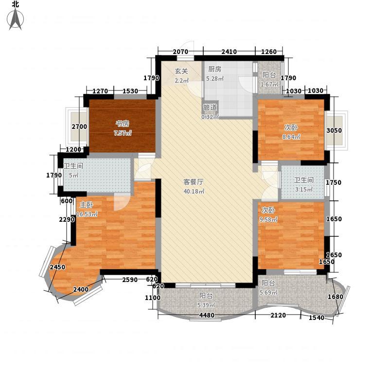 鼎盛山水116.30㎡D3-1户型4室2厅2卫1厨