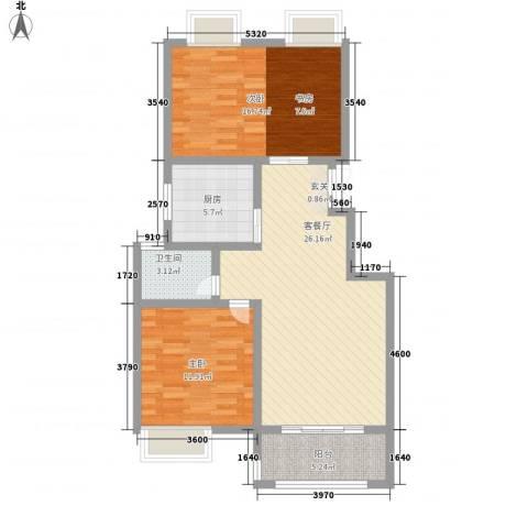 凯铂精品酒店2室1厅1卫1厨79.20㎡户型图