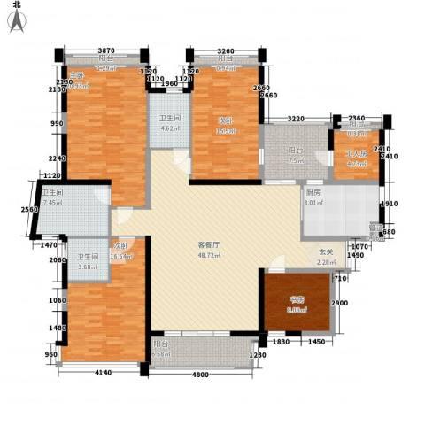 菩提园4室1厅3卫1厨155.56㎡户型图