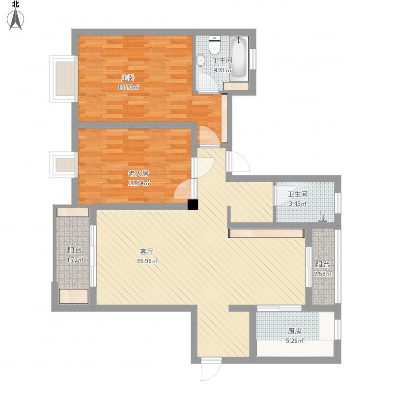 安粮兰桂公寓130平三房两厅一卫