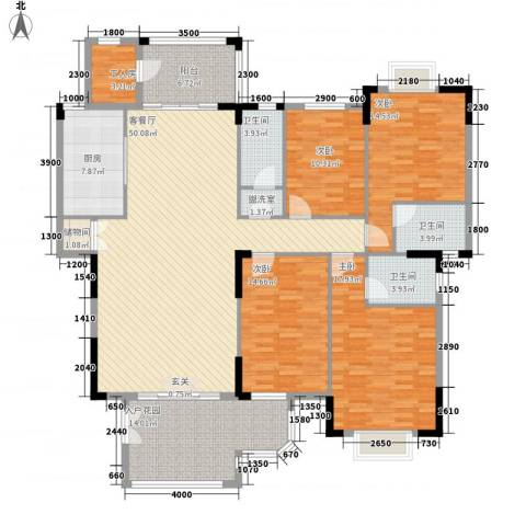 榕景华庭4室2厅3卫1厨153.62㎡户型图