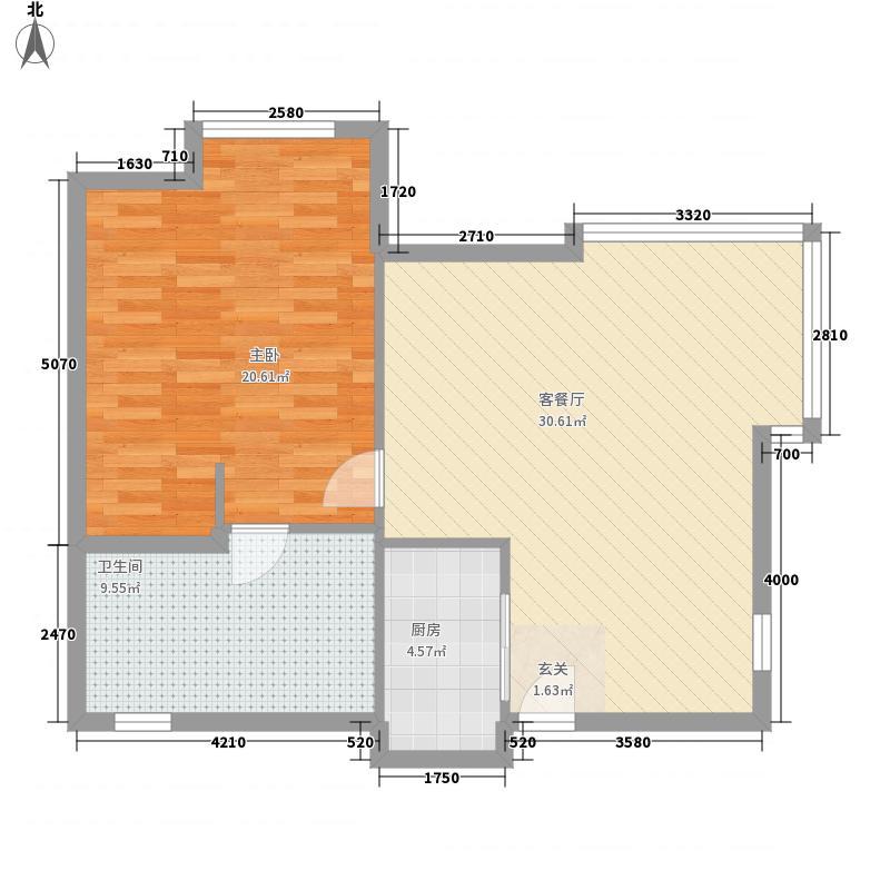盛世年华41.00㎡户型1室