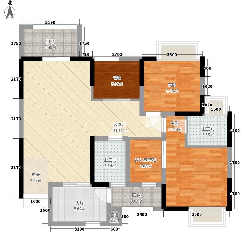 保利香雪2.00㎡户型3室