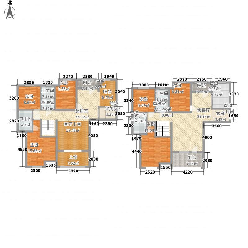 国宝花园285.80㎡C4户型6室3厅4卫1厨