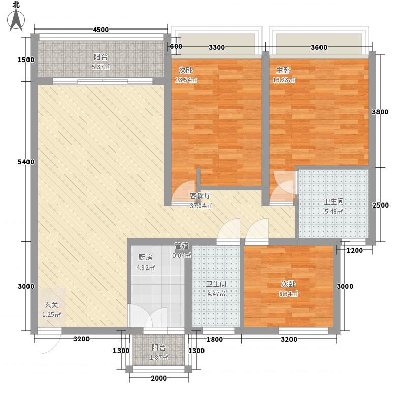 瑞景居户型3室