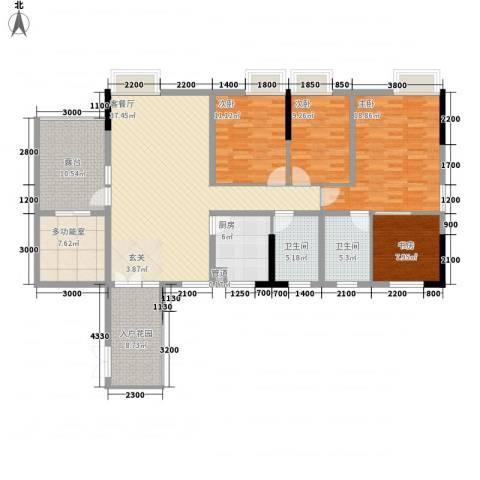 钻石公寓4室1厅2卫1厨163.00㎡户型图