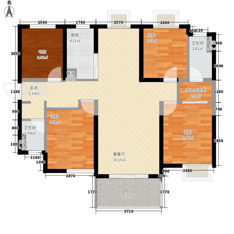 漳州万科城118户型4室2厅2卫