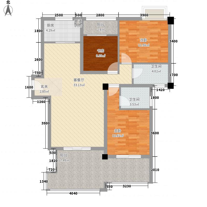 特房海景纯公寓3居户型