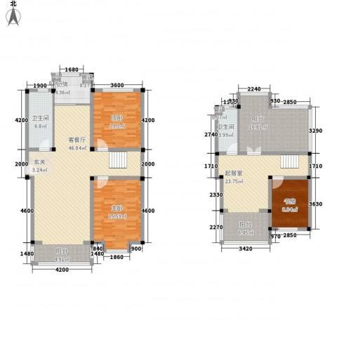 茉莉花园3室1厅2卫1厨158.31㎡户型图