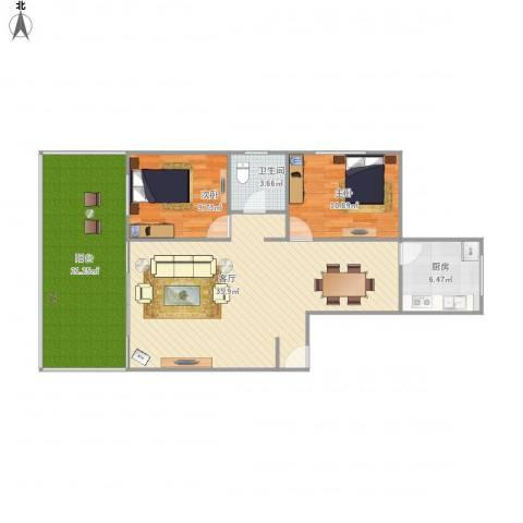 竹韵菁华B12室1厅1卫1厨117.00㎡户型图