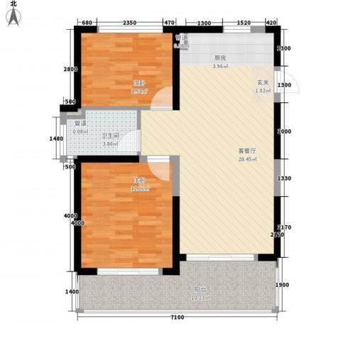 合景・月亮湾2室1厅1卫0厨83.00㎡户型图
