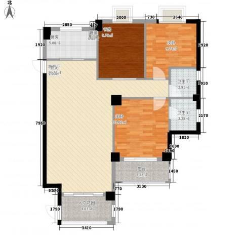 金尚首府3室1厅2卫1厨134.00㎡户型图