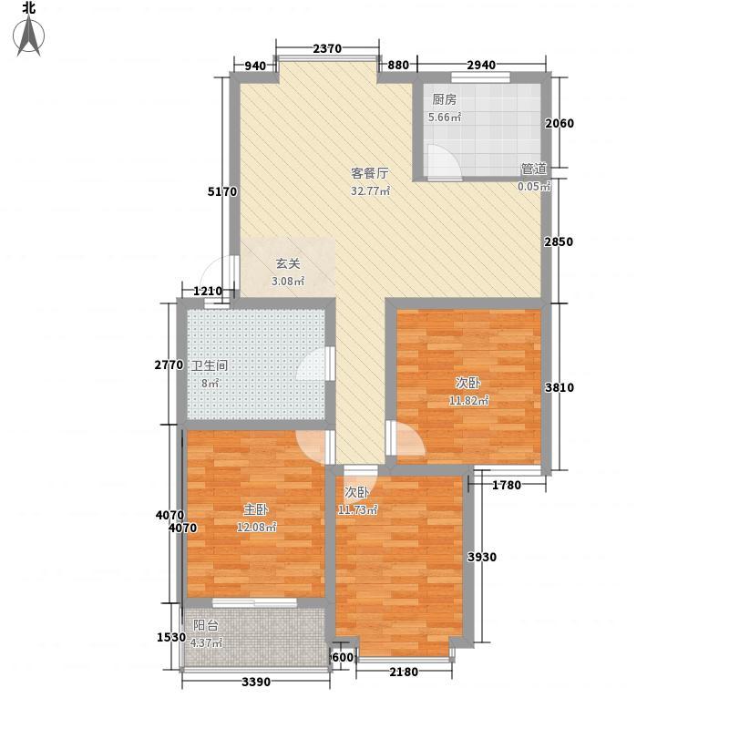 汇馨祥和苑123.00㎡户型3室