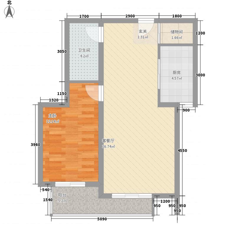 西市东桃园社区户型1室