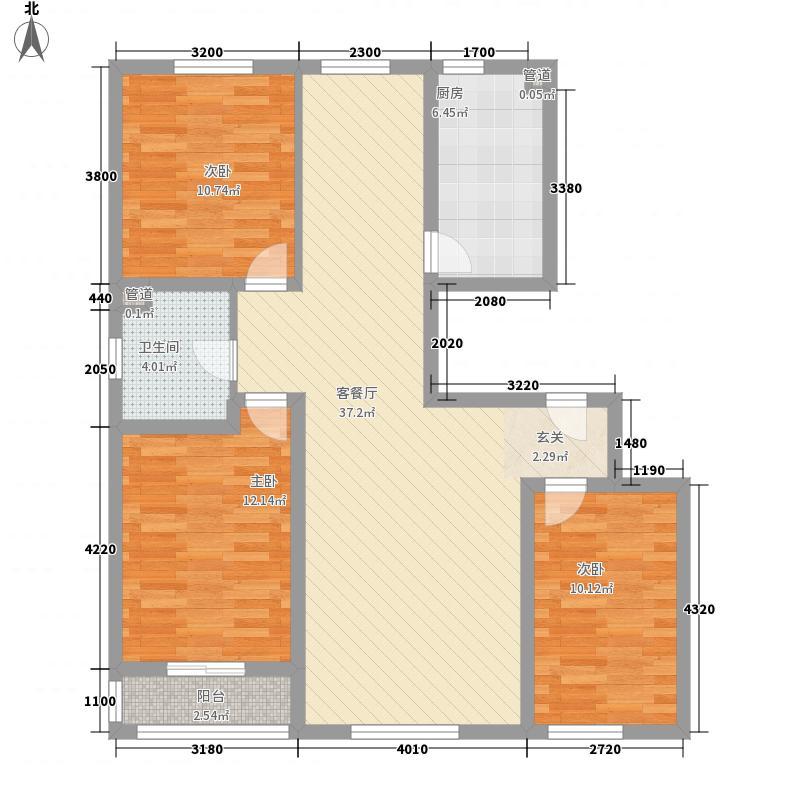 安居苑136.00㎡户型3室