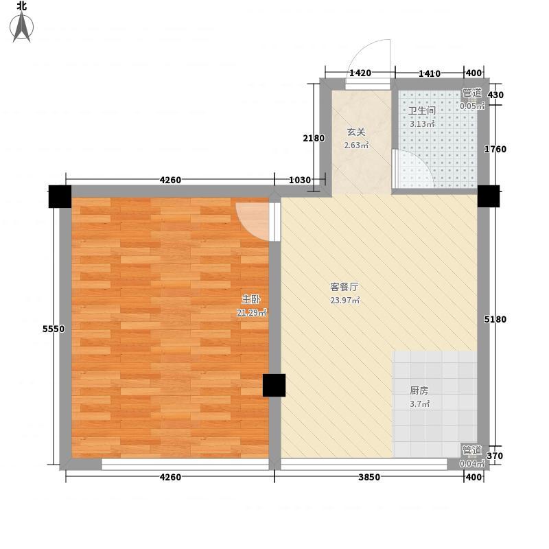 星海苑N户型1室1厅1卫1厨