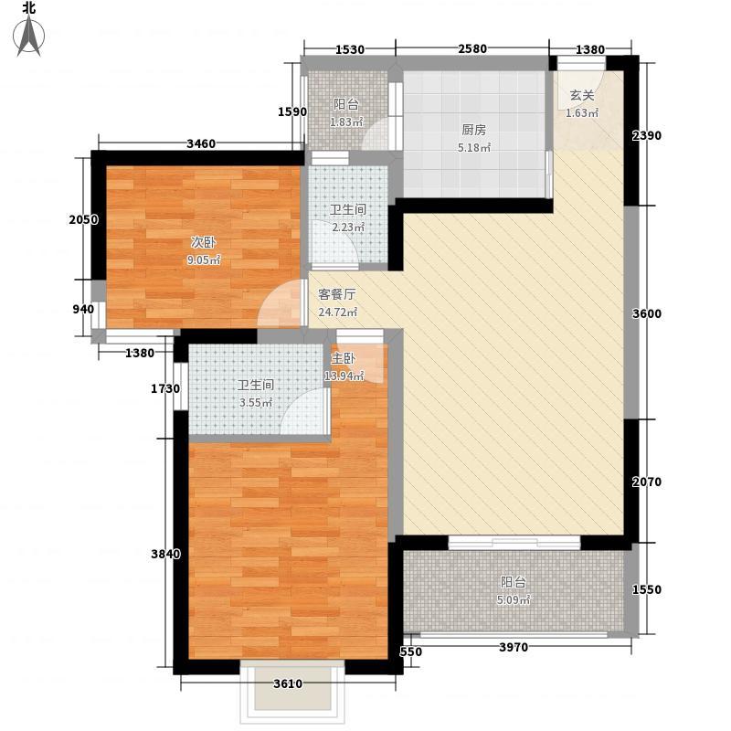 雅梦新居户型2室