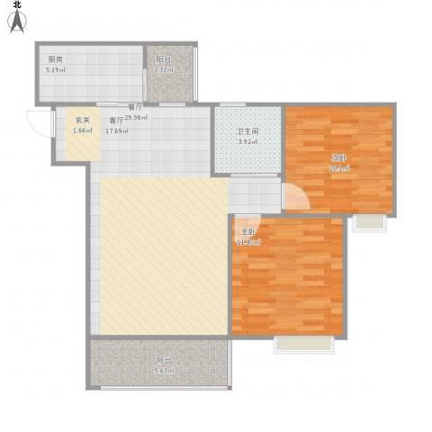 天府丽正2室1厅1卫1厨82.00㎡户型图